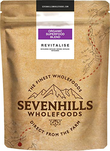 Sevenhills Wholefoods Revitalise Organic Superfood Natural Vitamin C Blend 250g with Acai, Blueberry, Lucuma, Maqui, Acerola - Natural Source of Vitamin C, Calcium & Iron