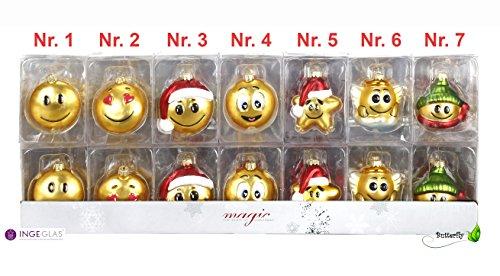 Lustige Weihnachtsfiguren Jokies Smileys 1 Stück sortiert, nach Wahl