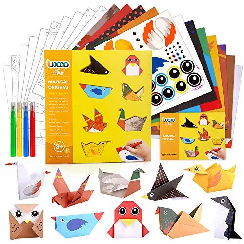 Arte y Artesanía Papel Origami Regalo para niños de 3 a 6 años Niñas Niños Vivo DIY Proyecto de Origami Arte Educativo Juguete de 4 a 8 años de edad Niño Niña Regalos de Fiesta de Cumpleaños