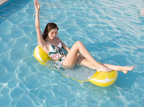 Multifunctionele hangmat opblaasbaar zwembad 4-in-1 hellingszwemmer waterhangmat multifunctionele hangmat opvouwbaar drijvend draagbaar zwemhulp ultralicht (itron)