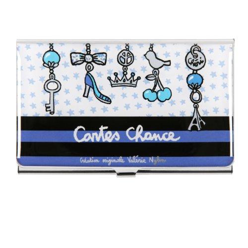 Visitenkartenhalter Lady–blau–Derrière la Porte–DLP