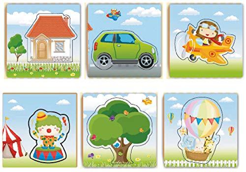 Brinquedo Pedagógico Madeira Aprendendo a Encaixar 10 Peças Brincadeira de Criança