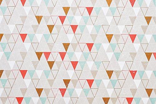 DECO MACHE Papier Patch 3 pieces Capsule Geometric Neon T