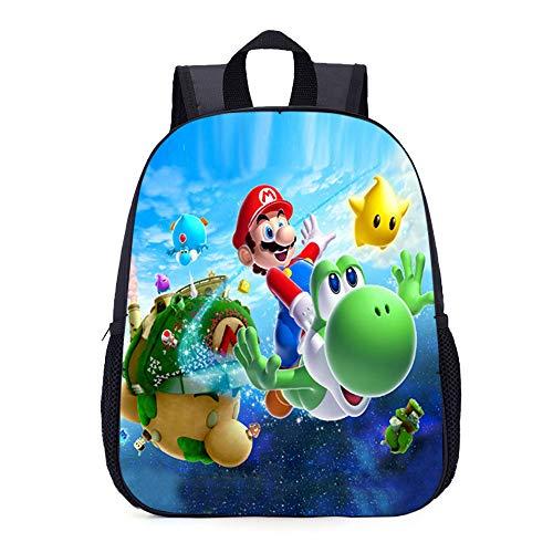Super Mario Schulrucksack beliebter lässig Rucksack Cartoon Rucksack gedruckt Sport Daypack Super Mario Kinderrucksäcke (Color : A3, Size : 27.5 x 10.5 x 35cm)