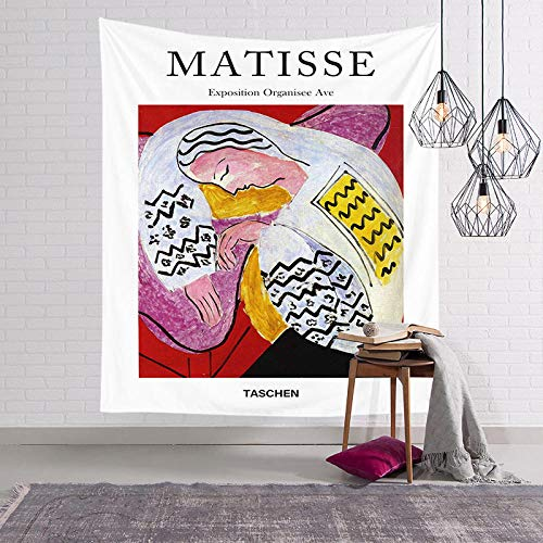 zzxywh Matisse Painting Wall Tapestry Psychedelic Color Contrast Artist Painting Printed Living Room Decoration Tapestry Home Decor 130×150cm