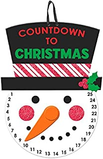 amscan Countdown to Christmas Hanging Sign | Holiday Decoration