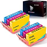 Wolfgray 934 935 - Cartuchos de tinta compatibles con HP 934XL 935XL 934 XL 935 XL para impresoras HP Officejet Pro 6830 6230 6812 6815 6835 6820 (2 cian, 2 magenta, 2 amarillos)