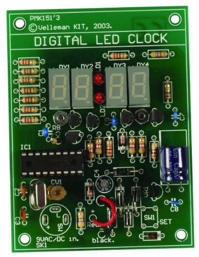 Velleman MK151 Digital LED Clock, multicolored