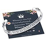 M MOOHAM Whenever You Feel Overwhelmed Remember Whose Niece Bracelet Straighten Your Crown Bracelet, Niece Bracelet Gifts from Aunt Engraved Inspirational Gifts for Women Girls (Nice Crown Bracelet)