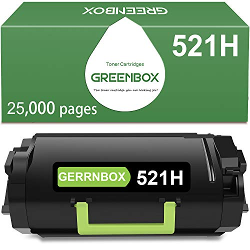 GREENBOX Compatible Toner Cartridge Replacement for Lexmark 52D1H00 521H for Lexmark MS810de MS810dn MS810dtn MS810n MS811dn MS811dtn MS811n MS812de MS812dn Printer (25,000 Pages High Yield,1 Pack)