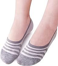 VERO MONTE 4 Pairs Womens Stripe Athletic No Show Socks - Sneaker Socks No Show