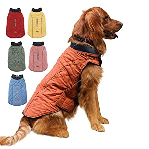 EMUST Winter Dog Coats, Dog Apparel for Cold Weather, British Style Windproof Warm Dog Jacket for Small Dog Coats for Winter, XS