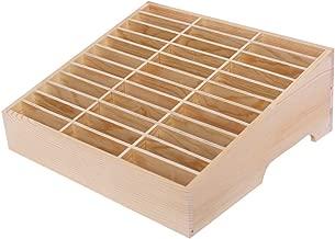 Ozzptuu 36-Grid Wooden Cell Phone Holder Desktop Organizer Storage Box for Classroom Office