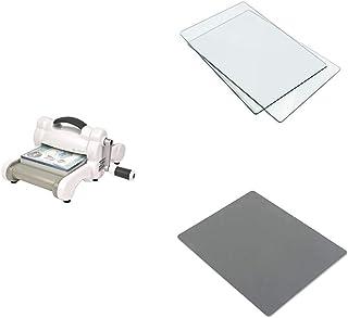 Sizzix Big Shot Machine Bundle, tampons de Coupe Standard, Tapis en Caoutchouc Silicone et Tapis d'impression