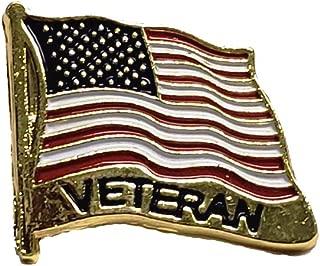 Lot Of 12 NEW DESIGN USA Flag Veteran Lapel Hat Pin Marines Army Navy Air ForcePM7480