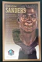 PRO FOOTBALL HALL OF FAME Deion Sanders NFL Bronze Bust Set Card Postcard (Limited Edition #94 of 150) [並行輸入品]