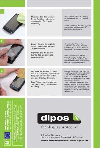 dipos I 2X Schutzfolie matt kompatibel mit Huawei Ascend W1 Folie Displayschutzfolie - 4