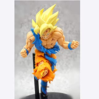 Asdfnfa Toy Model Wukong Super Saiyan Crafts Cartoon Statue Anime Crafts Exquisite Gifts 19cm