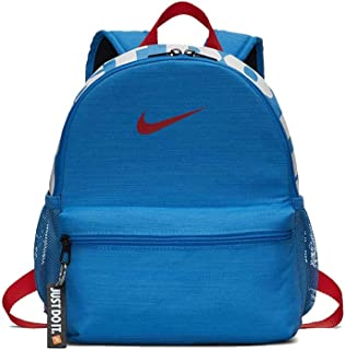 Nike Brasilia JDI Mini Backpack For Kids - NKBA5559-406 (Multicolour (Blue/Habanero Red))
