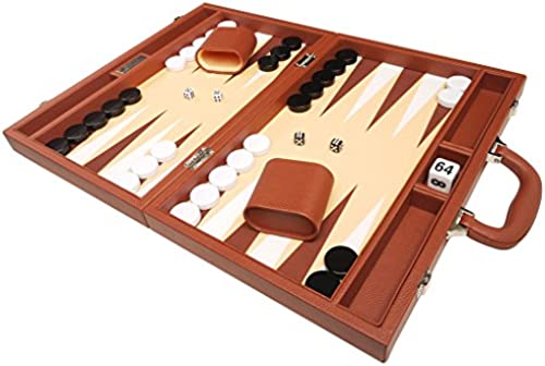40 x 53 cm Premium-Backgammon-Set - Desert braun