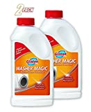 Glisten WM06N Washer Magic-24 Fluid Ounces-Washing Machine Cleaner for Traditional Top Loaders and High Efficiency (HE) Washing Machines (2 PACK)