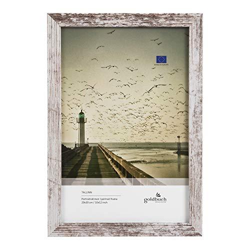 goldbuch 920495 Bilderrahmen Tallinn Vintage aus MDF, Fotorahmen für Bild im 20x30 cm Format, Portraitrahmen mit Aufsteller & Wandhalterung, Einzelrahmen aus Holz, Foto Rahmen ca. 23 x 33 x 1,5 cm