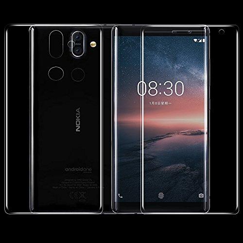 ONICO Per Nokia 8 Sirocco Pellicola Protettiva (Non Vetro Temperato),Originale Anteriore HD e Posteriore Pellicola Protettiva 3D AntiGraffio Copertura Completa (2 * Anteriore e Posteriore)