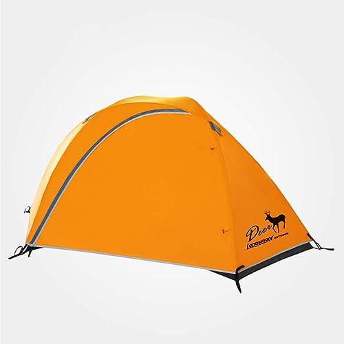 Tent De RandonnéE en Plein Air pour Camping en Plein Air Double avec Prougeection Solaire Anti-Pluie Ultra-LéGèRe - Orange