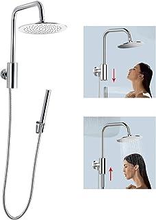 ASPA HydroRail Shower Column System Retro-Fit Magic Control Hand Shower and 8