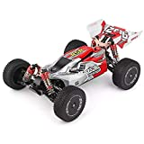 BeesClover Remote Control Car WL-Toys 144001 1/14 2.4G 4WD High Speed Racing RC Car Vehicle Models 60km/h (Custom Package) No Color Box red