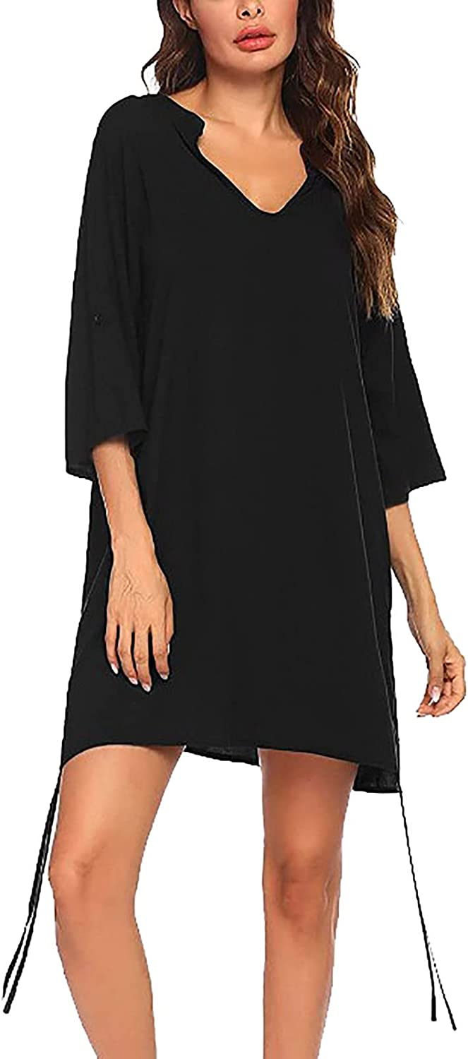 Women's Solid Color Loose Short Safety and trust Top Sumemr Casual Sleeve Blouses Super-cheap