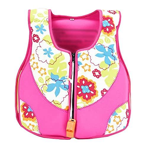 Simväst för barn flytliv jacka småbarn badväst baby pojkar flickor flytande jacka bouyancy baddräkt badkläder rosa