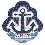 Big Dot of Happiness Ahoy - Nautical - Baby Shower or Birthday Dinner Plate (16 Count)