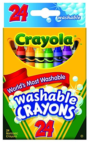 Crayola Washable Crayons 24 in a Box (Pack of 6) 144 Crayons in Total