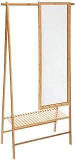 marque Atmosphera, créateur d'intérieur Portant à vêtements en Bambou Gaia avec Miroir