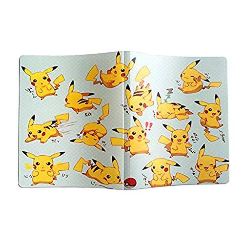XIKEJI Carpeta de Tarjetas Compatible con Tarjetas de Pokémon, Carpeta de álbum de Tarjetero Coleccionable Contiene: 162 Ranuras para Tarjetas, 9 Bolsillos, 324 Tarjetas - Deluxe Edition A