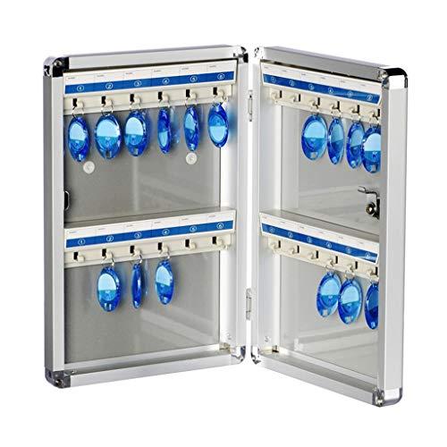 Armoires à clés Armoire clé 24 Bits boîte de Gestion clé en sécurité Verrouillage Gestion des clés clés centralisée boîte de Collecte de Stockage (Color : Silver, Size : 22 * 5.5 * 32.5cm)
