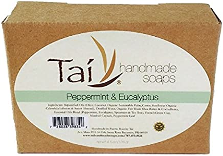 Organic Natural Handmade Soaps - Peppermint & Eucalyptus - 4.5 oz Bar