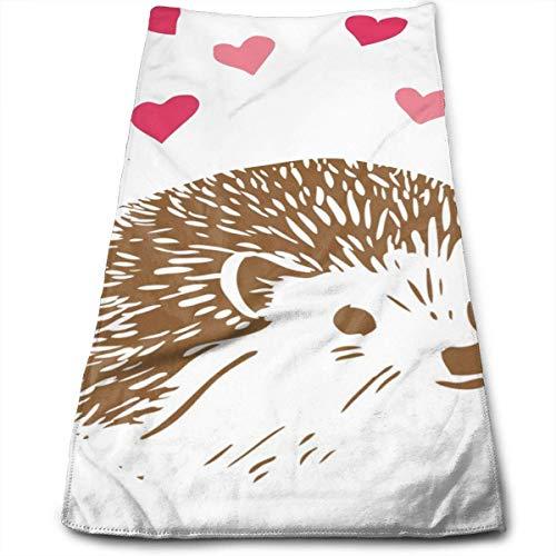Unique Life Hedgehog Love Fashion Toallas de microfibra altamente absorbentes para baño, toalla de ducha, toalla de cara unisex