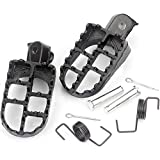 XFC-Jiao, Motocicleta Foot Pegs Pedales Fit for Yamaha TW200 PW50 PW80 Pit Dirt Reposapiés for Bicicleta Foot Pegs Set for Honda XR 50 XR70 CRF 50/70/80 (Color : Negro)