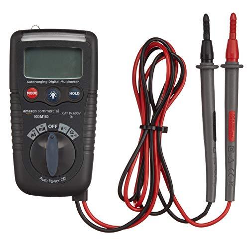 AmazonCommercial– Kompaktes Digitalmultimeter, 2.000Counts, NCV, Taschenlampe, CATIV 600V