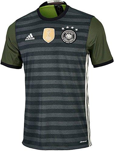 adidas International Soccer Germany Men's Jersey, Small, Dark Grey/White/Green