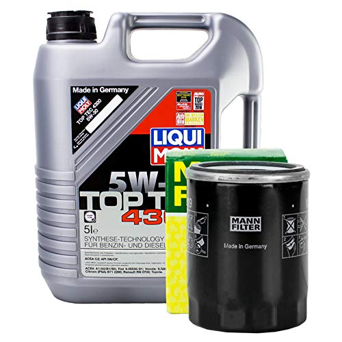 LIQUI MOLY Top Tec 4300 5W-30 3741 + MANN FILTER Ölfilter HU 819/1 x
