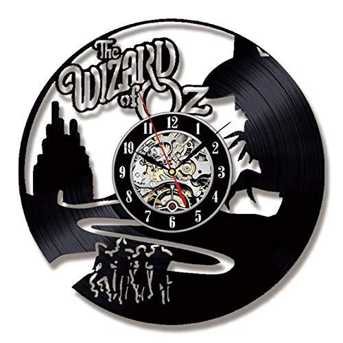 BFMBCHDJ Kreative Wanduhr Modernes Design für Wohnzimmer Retro Style Uhren Vinyl LP CD Schallplatte Wanduhr Home Decor Silent