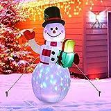 Decoración exterior inflable de muñeco de nieve de Navidad de 5FT,decoración de patio de muñeco de n...