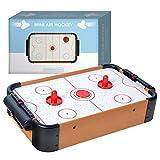 Mini Jeu Air Hockey | Pack Complet | Qualité Premium | Dimensions 10 x 31 x 56 cm | 2 Palets | 2 Poussoirs | 1 Moteur avec Flux d'Air | Jeu Famille Enfants et Adultes | Créé par OriginalCup®