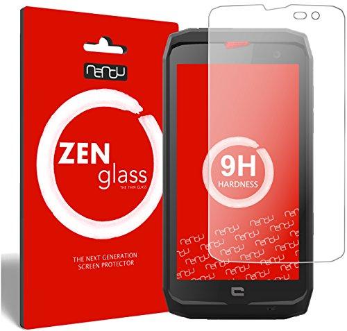 ZenGlass Flexible Glas-Folie kompatibel mit Crosscall Action X3 Panzerfolie I Bildschirm-Schutzfolie 9H