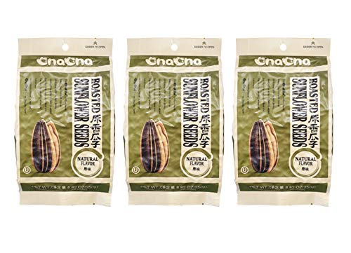 ChaCha Natural Roasted Sunflower Seeds (3 Pack, Total of 750g)