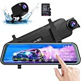 Best Front And Rear Dash Cams - AKASO Mirror Dash Camera for Cars - 10' Review