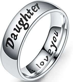6mm Stainless Steel Mom Son Daughter Wedding Band Classic Ring